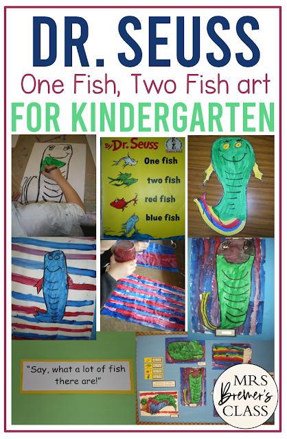 Dr. Seuss One Fish Two Fish art activities for Kindergarten