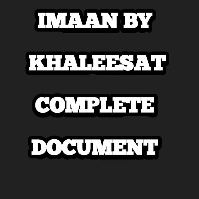 IMAAN BY KHALEESAT COMPLETE DOCUMENT
