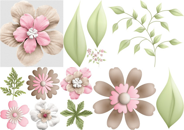 Flowers of the Sweet Cuddles Clip Art.
