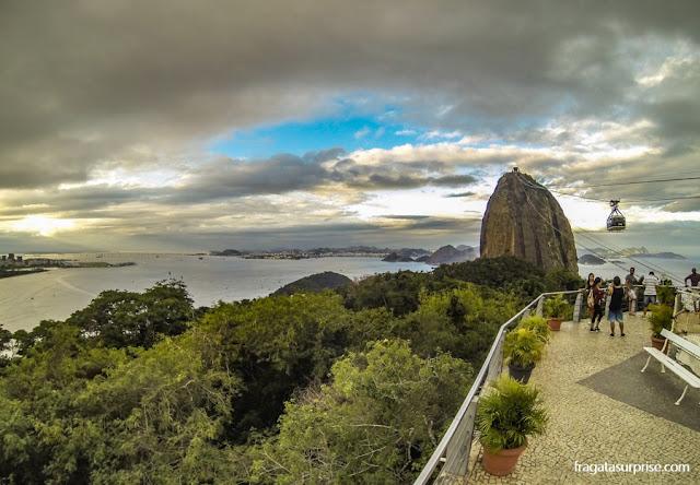 A Baía de Guanabara vista do Morro da Urca, no Rio de Janeiro