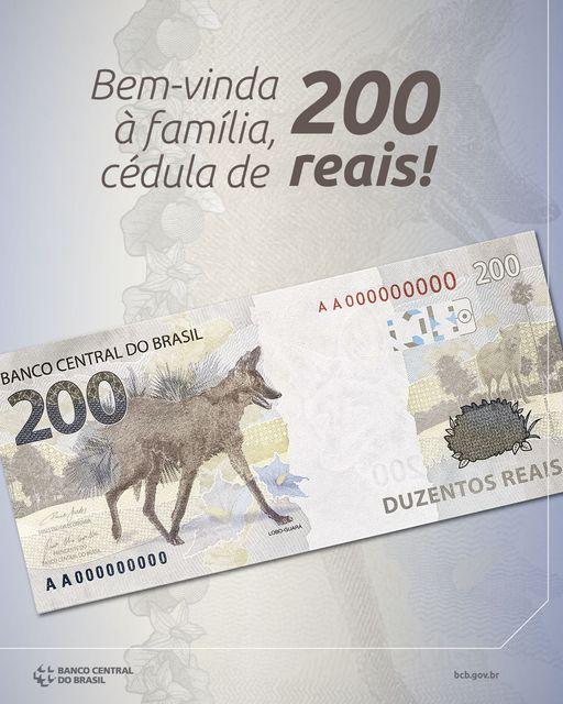 Cédula de R$ 200 eleva a atenção para a preservação do lobo-guará