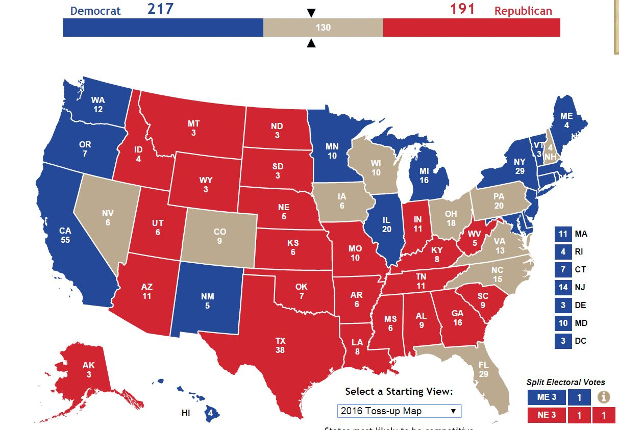 You Might Notice A Trend Playing With The Electoral