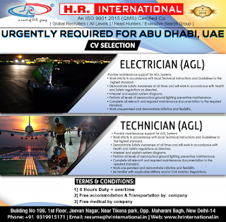 Urgent Required for Abu Dhabi