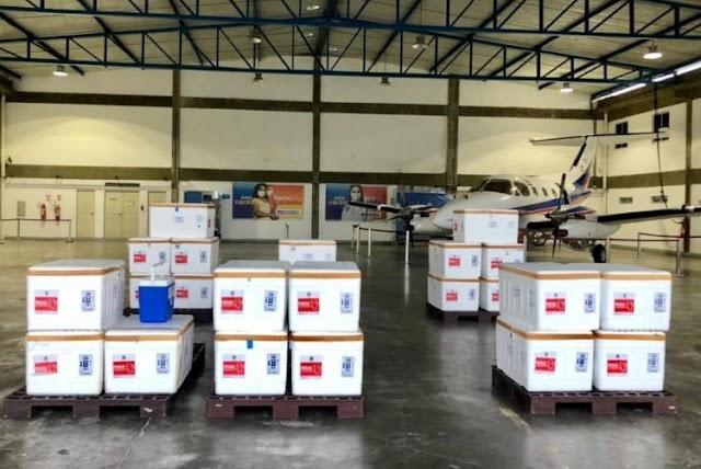 Bahia recebe nova remessa de vacinas contra a Covid-19
