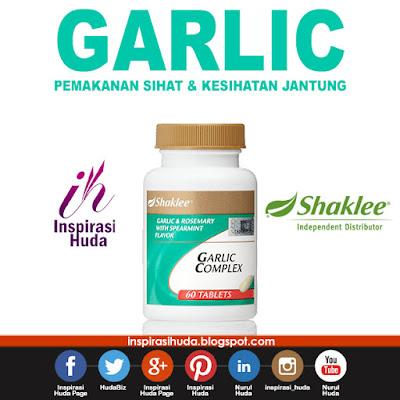 garlic, garlic complex, shaklee, vitamin, sihat, jantung, suplemen, produk, inspirasihuda