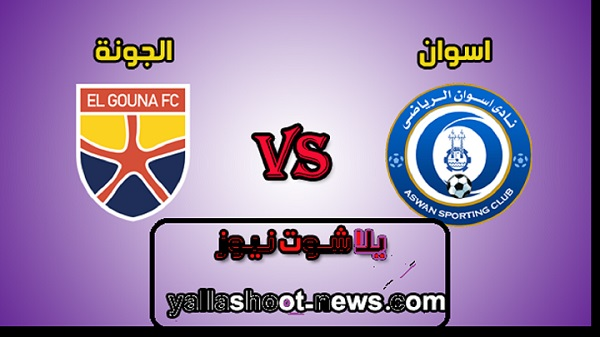 موعد مباراة اسوان والجونة اليوم في بطولة الدوري المصري الممتاز لكرة القدم