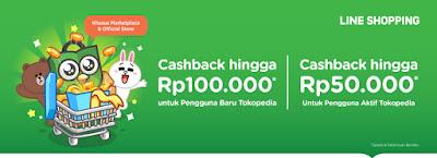Promo Diskon Tokopedia & Line Cashback Up To 100 Ribu