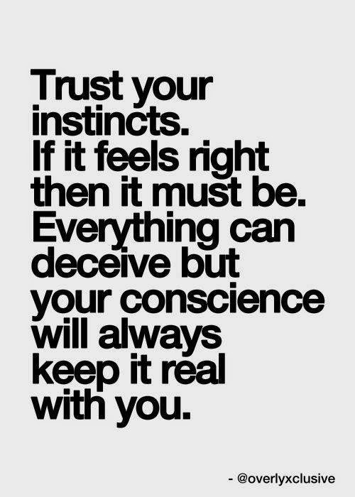 Trust Your Instincts If It Feels Right Then It Must Be Everything
