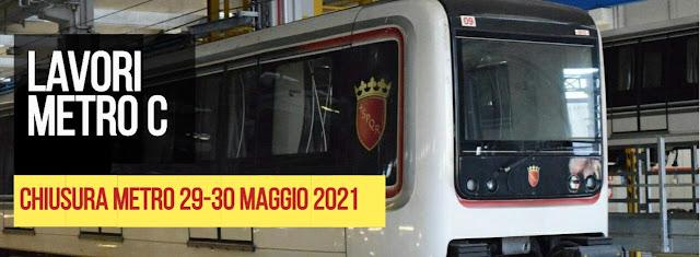 Metro C sospesa il 28/29 maggio