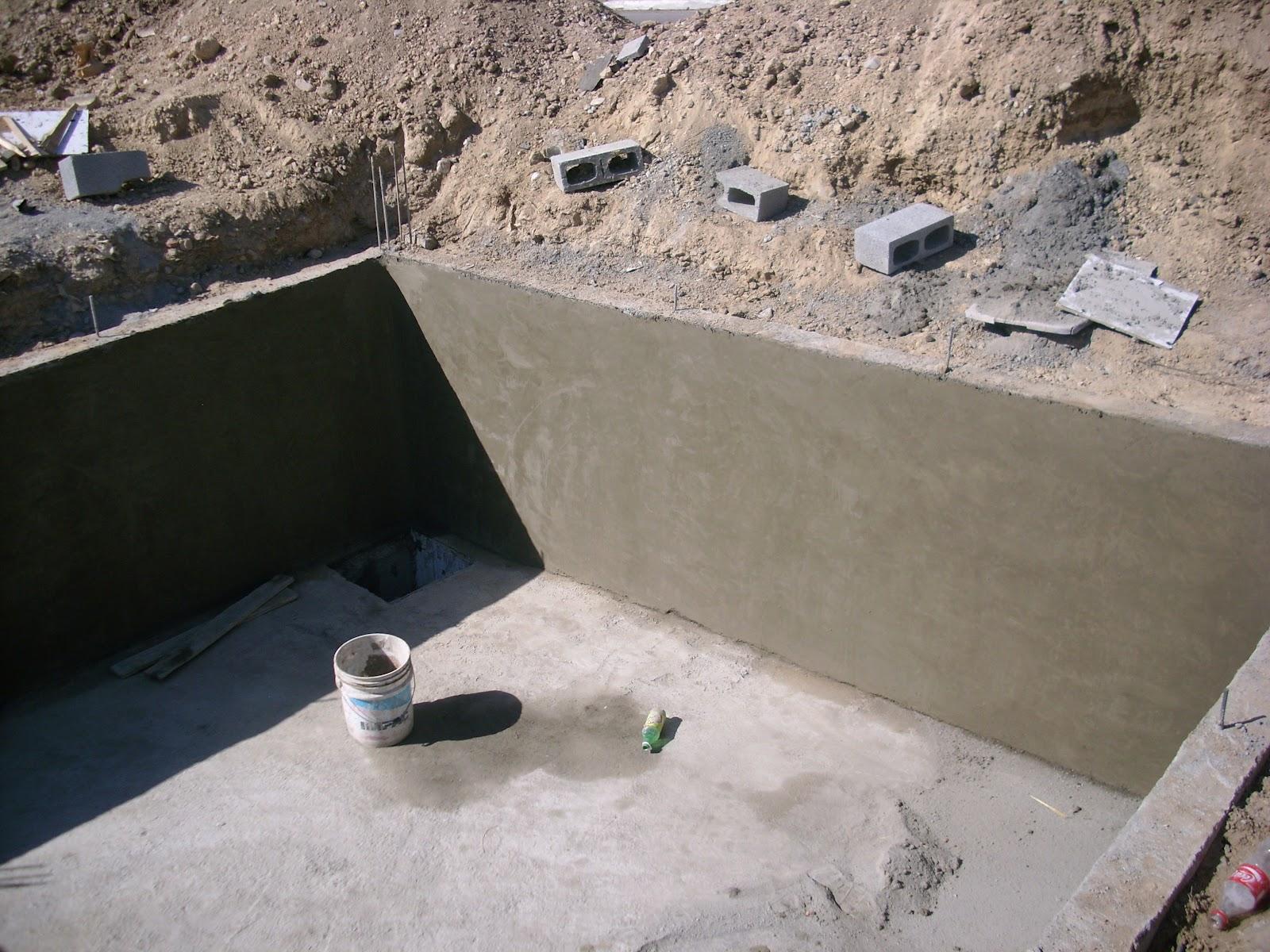 Aljibe o cisterna de concreto armado for Muro de concreto armado