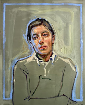 Portrait with a Blue Outline 3, Agnes Grochulska