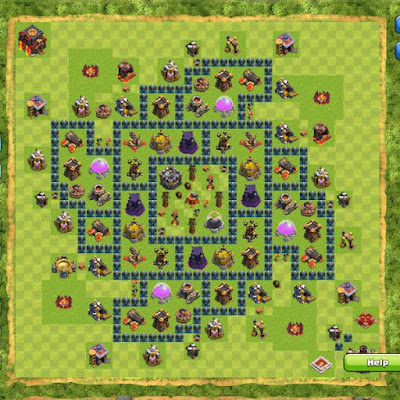 Base Clash of Clans Town Hall 10