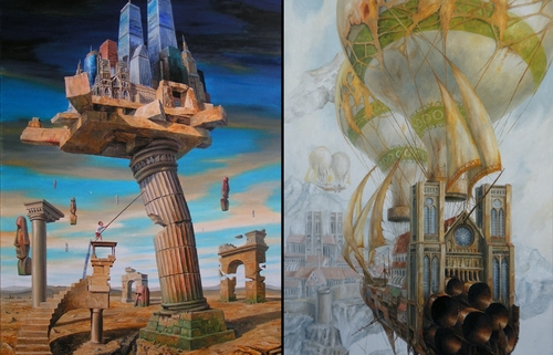 00-Jaroslaw-Jaśnikowski-Paintings-of-Surreal-Architecture-with-Gothic-Undertones-www-designstack-co