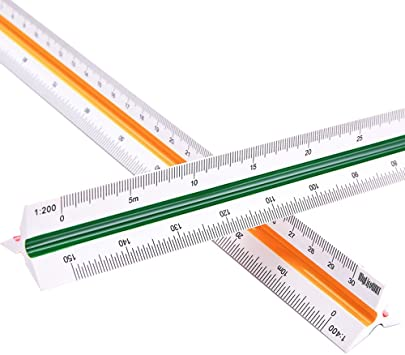Triangular ruler scale