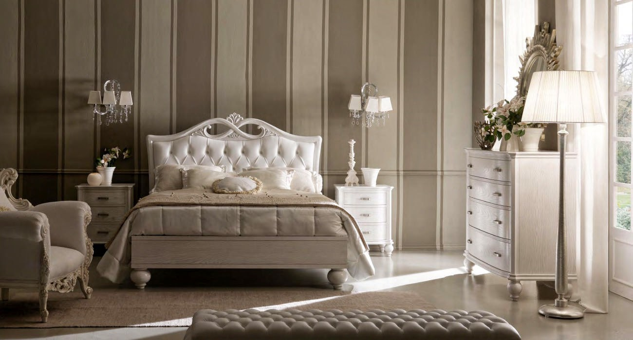 Design interior mobila dormitor de lux Italia - Design Interior | Amenajari interioare - Bucuresti | mobilier italian | Mobila dormitor Italia Pat Via Veneto art.6070