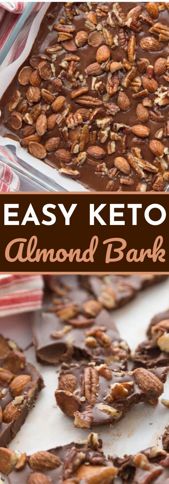 Keto Easy Chocolate Almond Bark #healthy #snacks #chocolate #keto #vegan