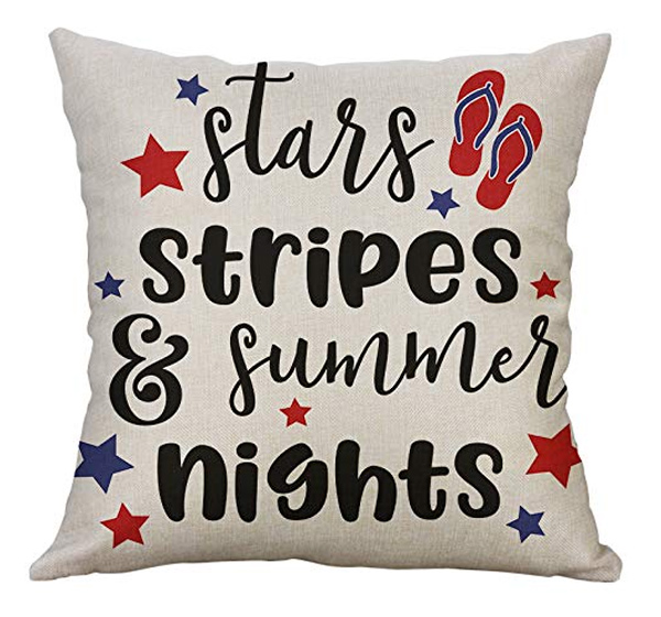Stars, Stripes, and Summer Nights Pillow