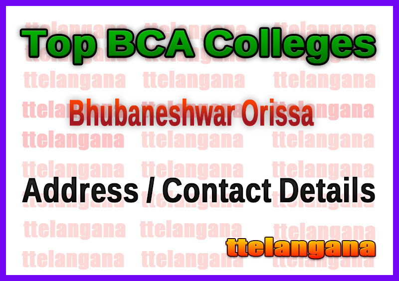 Top BCA Colleges in Bhubaneshwar Orissa