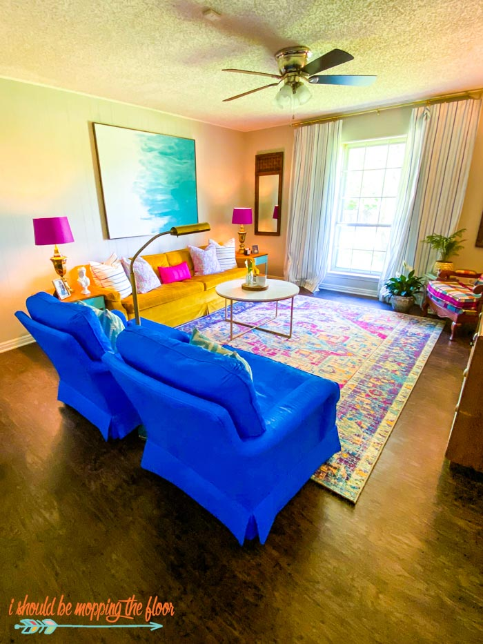 Colorful Mid-Century Living Room