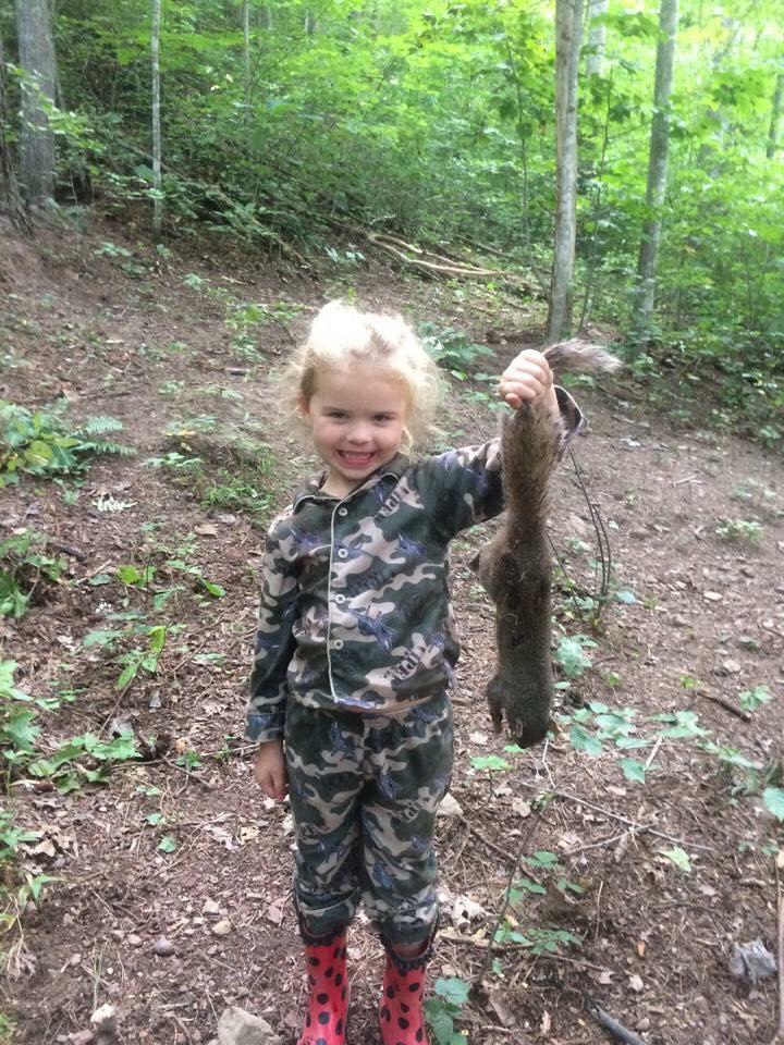 Something also Little girl hunting reserve