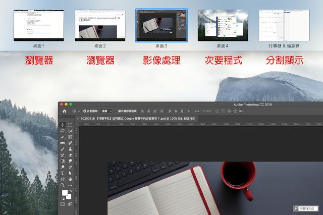 【MAC 幹大事】提升效率的多重桌面 / 分割顯示 - 建立使用習慣