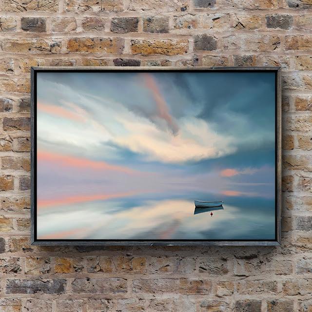 adrift on still waters, art by Mark Taylor, landscape art, Beechhouse Media,