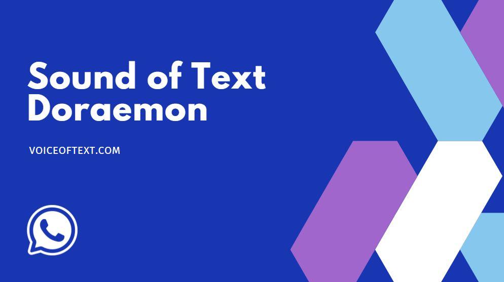 cara sound of text doraemon lucu di wa