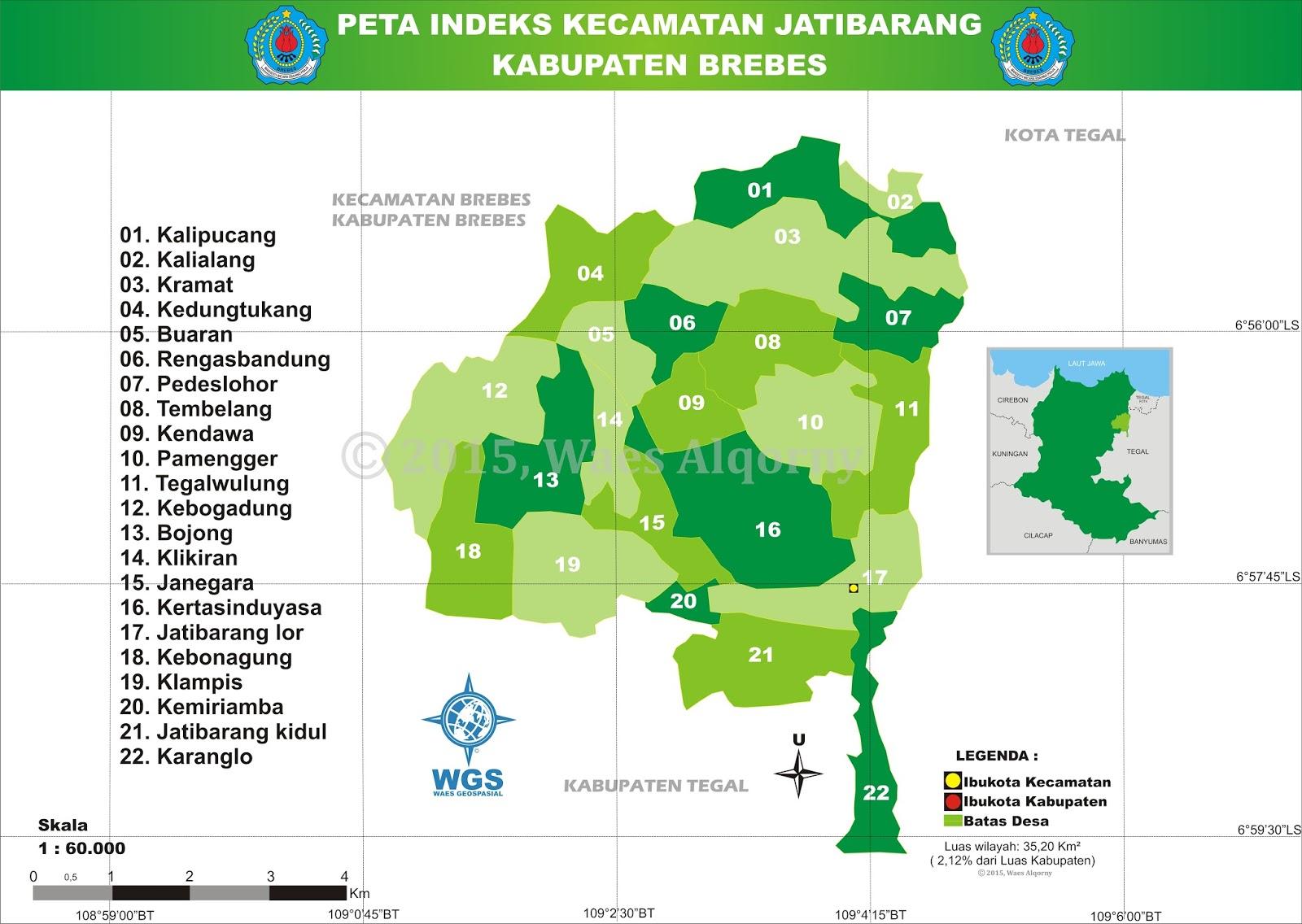 Peta Indeks Kecamatan Jatibarang - Brebes - My Diary