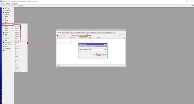 setting hotspot server di mikrotik : Hotspot Setup