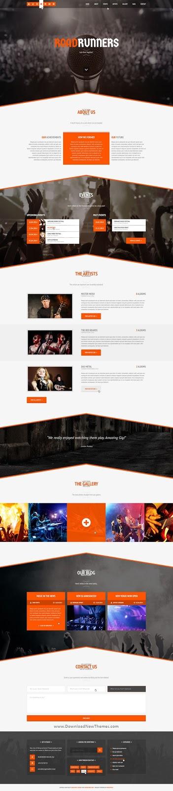 Premium Music WordPress Theme