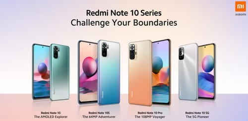 Xiaomi has announced the launch of the Redmi Note 10 mobile phones