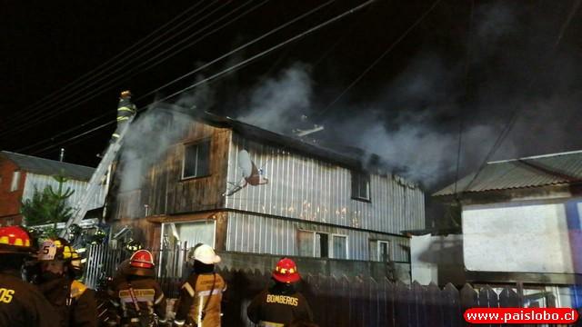 Osorno incendio Ovejería