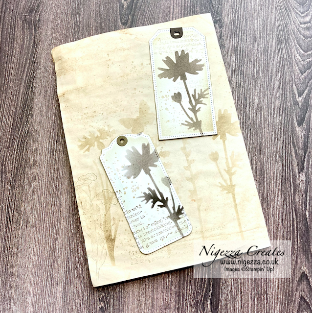 Vintage Tags & Journal Pages Using Stencils Made From Meadow Dies