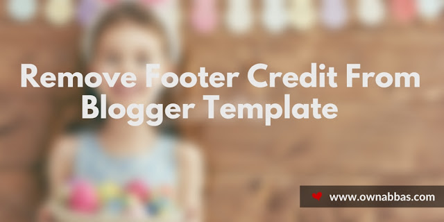 remove footer credit from template footer