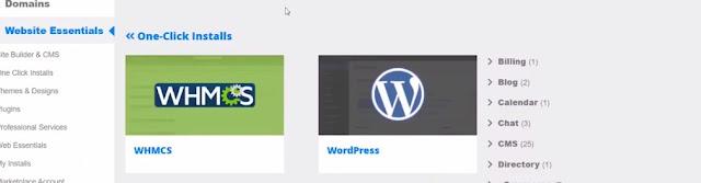 WordPress installer from Hostgator