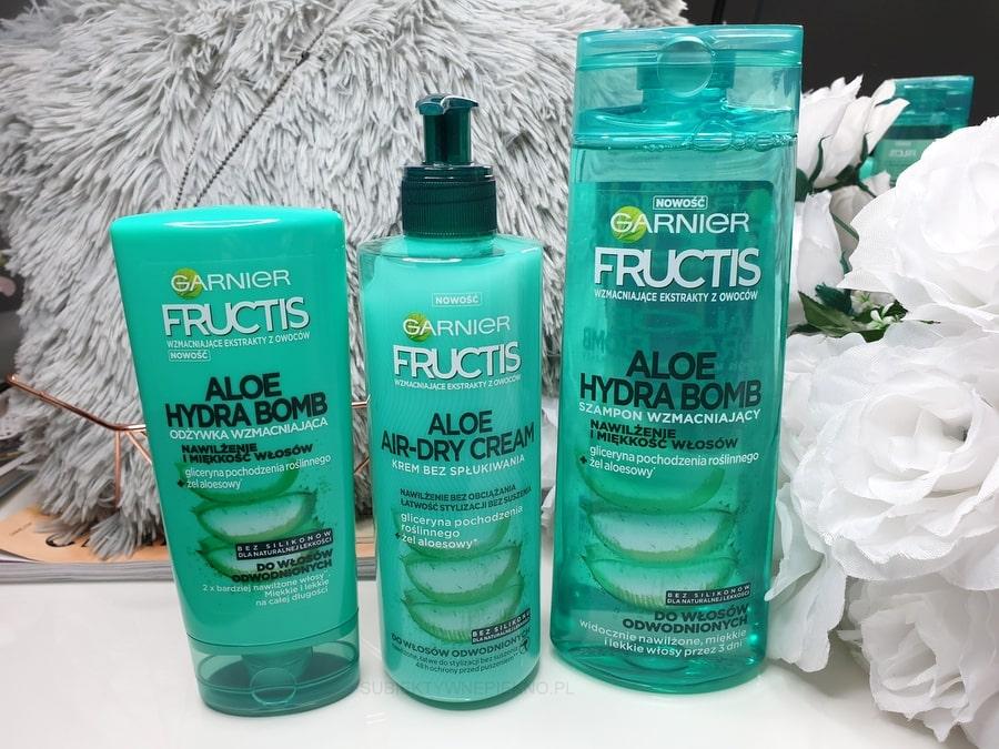 ALOE HYDRA BOMB GARNIER FRUCTIS - odżywka, szampon i krem bez spłukiwania