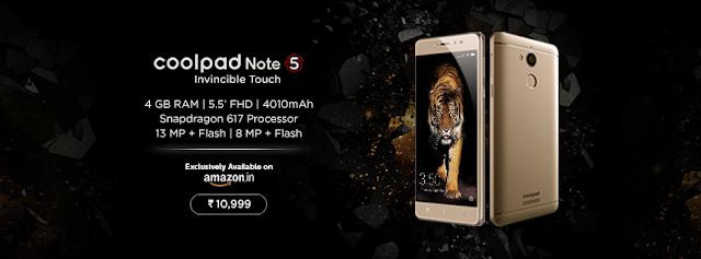 Kamera Coolpad Note 5 Harga dan Spesifikasi