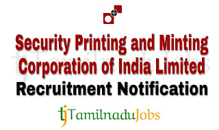 SPMCIL Recruitment notification