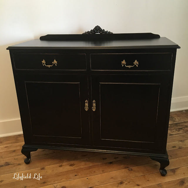 black painted sideboard Lilyfield Life