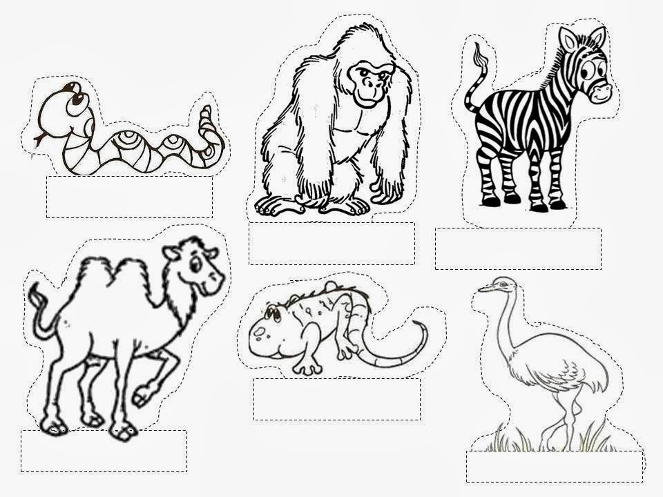 Desenho De Animais Do Zoológico Reunidos Para Colorir: Dani Educar: Maquete :zoológico(animais Vertebrados