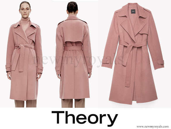 Princess Marie wore Theory Double-Face Wool-Cashmere Trench Coat
