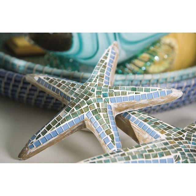 3 Piece Mosaic Star Fish Wall Decor Set