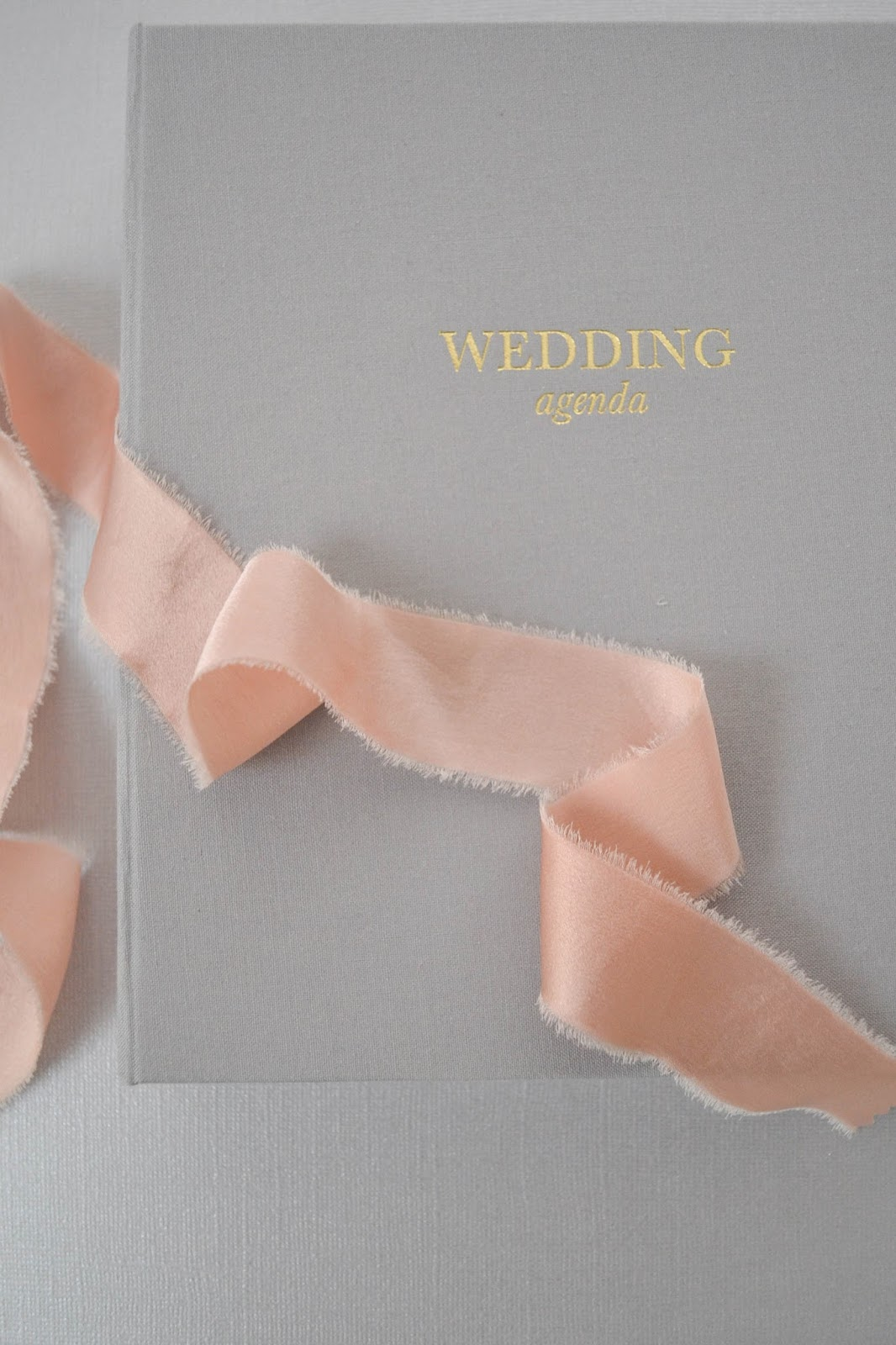wedding agenda sugar paper