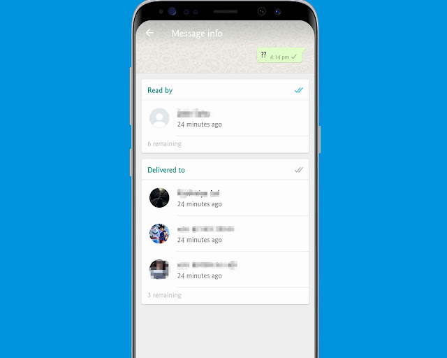 Get The Info Of Message - WhatsApp tricks