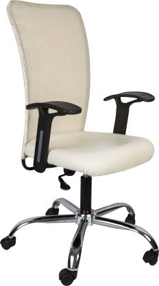 Hetal Enterprises Leatherette Office Arm Chair  (Multicolor)
