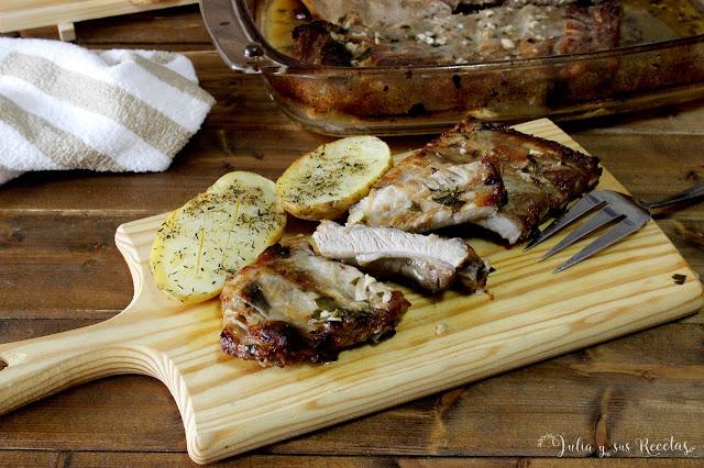 Costillas de cerdo al horno, al limón. Julia y sus recetas