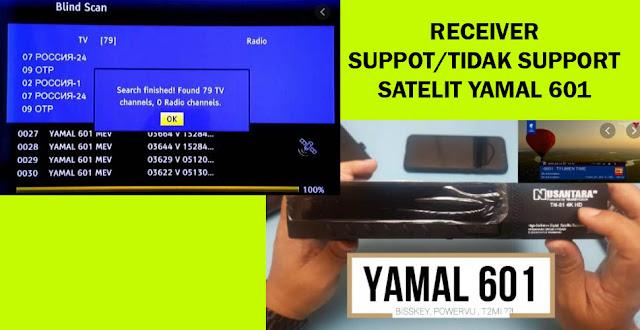 Receiver Yang Support dan Tidak Support Satelit YAMAL 601 Frekuensi Siaran T2MI