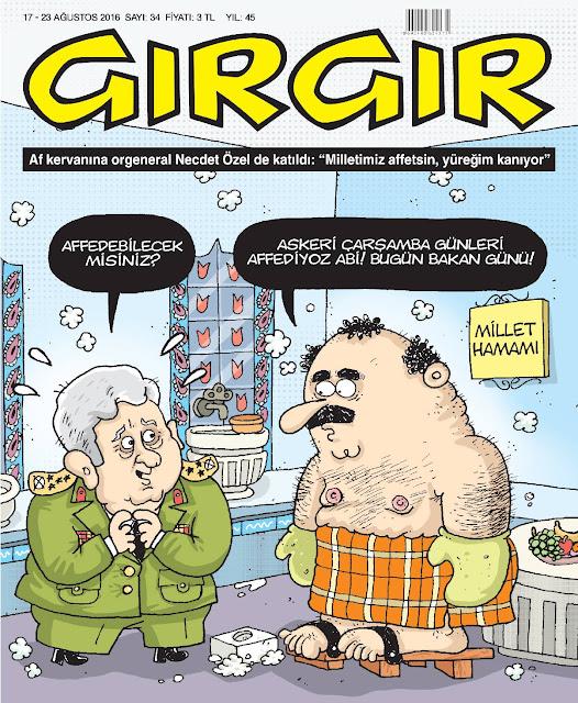 Gırgır Dergisi - 17-23 Ağustos 2016 Kapak Karikatürü