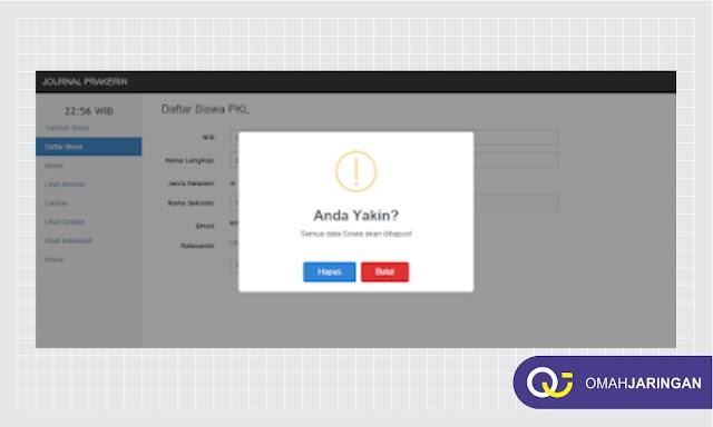 Dashboard Data Siswa PKL Review Aplikasi Absensi Berbasis Web PHP, MySQL, dan Codeigniter