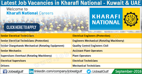 Latest Job Vacancies in Kharafi National - Jobzatgulf com